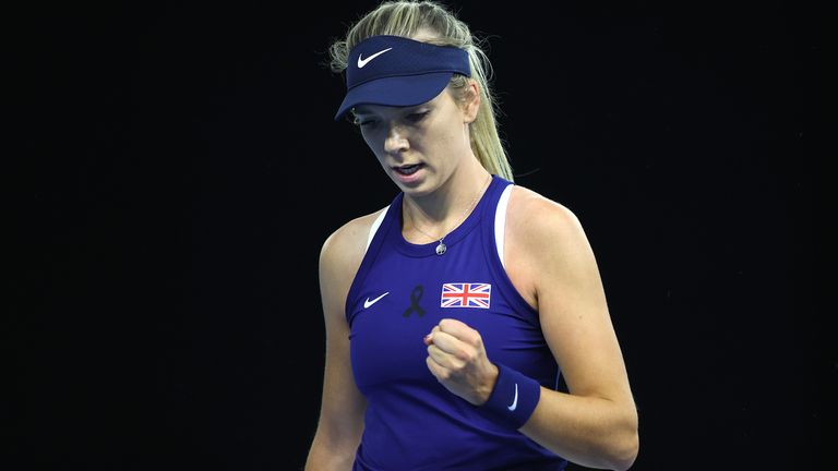 Katie Boulter sealed her second singles victory of the tie