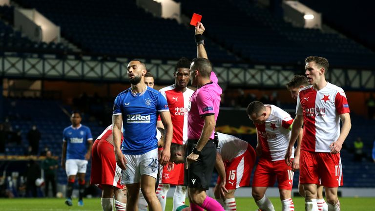 PA - Kemar Roofe was sent off