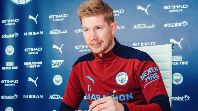 GETTY - Kevin de Bruyne has signed a contract extension at Manchester City