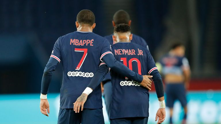 AP - Mbappe and Neymar celebrate