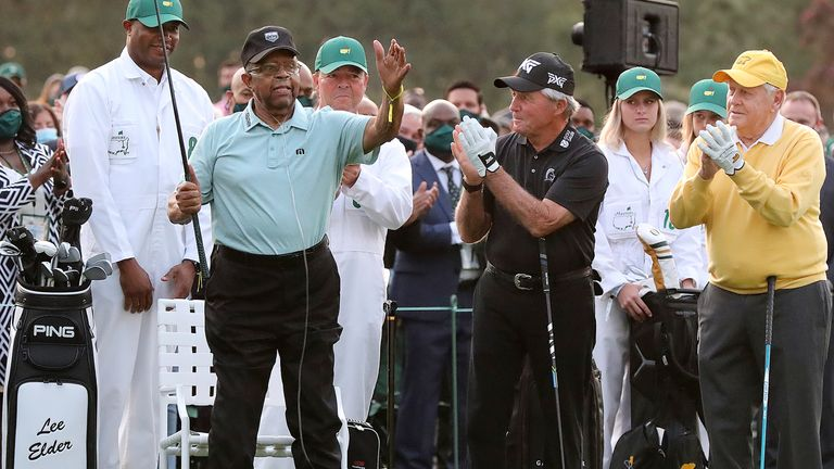 Elder was given a warm welcome by players, patrons and Augusta members
