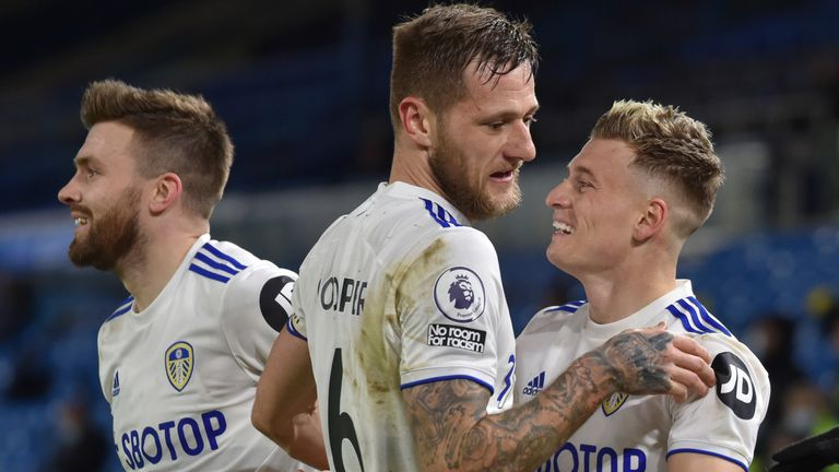 Leeds will be without their captain Liam Cooper through suspension