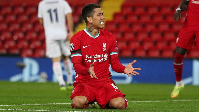 Roberto Firmino aus Liverpool raubt eine verpasste Gelegenheit