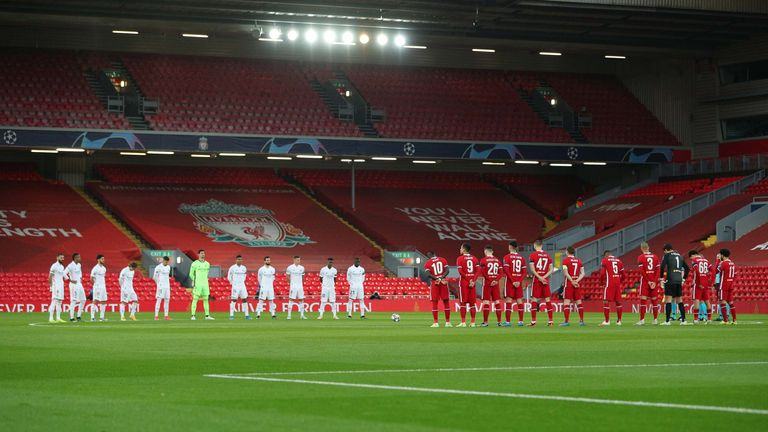 PA - Liverpool and Real Madrid stand in memory of the victims of the Hillsborough disaster