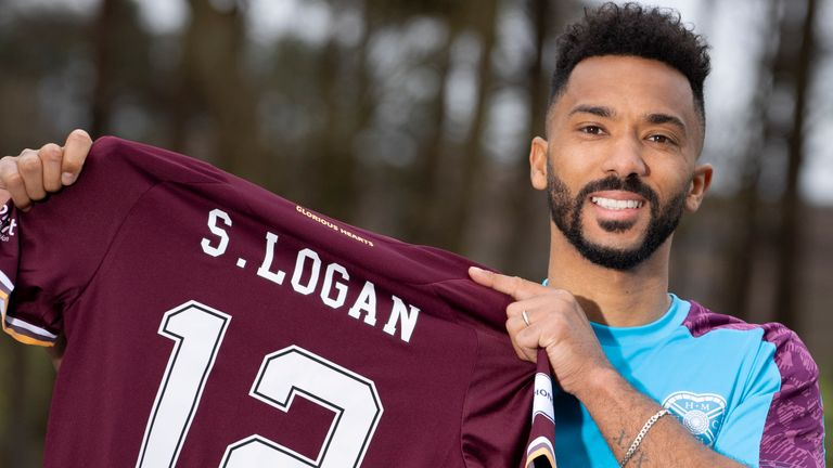 Shay Logan has joined Hearts on loan until the end of the season from Aberdeen