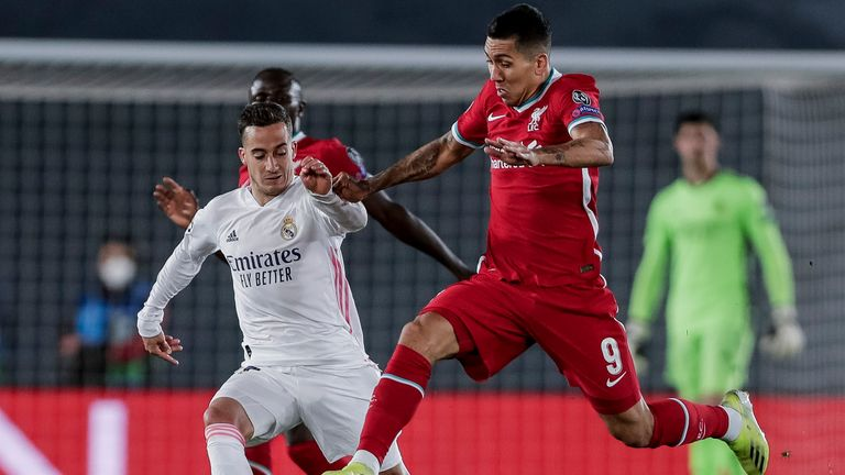 Lucas Vazquez featured at right-back in the win over Liverpool