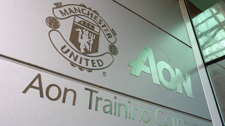 An exterior view of Man Utd's AON training complex