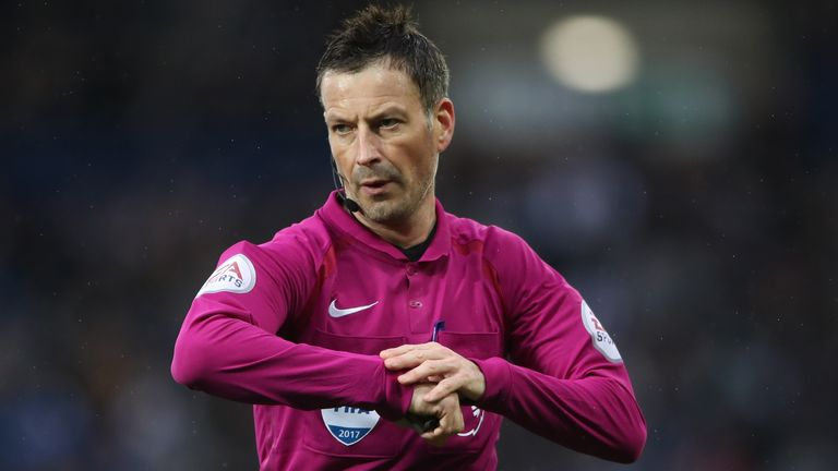 Referee Mark Clattenburg during the Premier League match at The Hawthorns, West Bromwich, 2017 (PA)