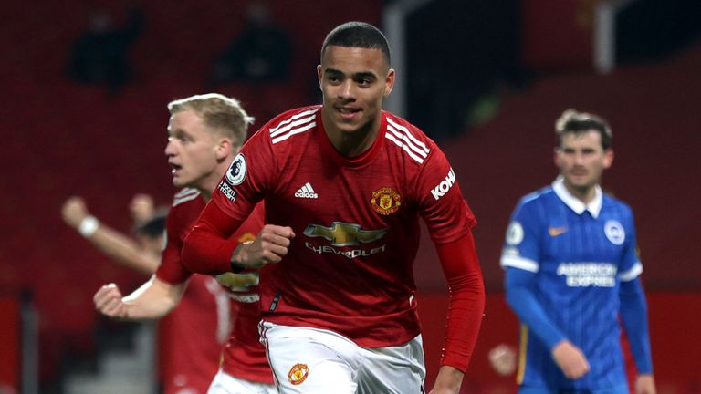 Mason Greenwood struck late to earn Manchester United victory over Brighton
