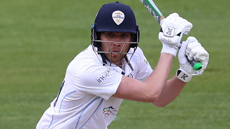 Matt Critchley broke a Derbyshire record after starring with bat and ball against Worcestershire