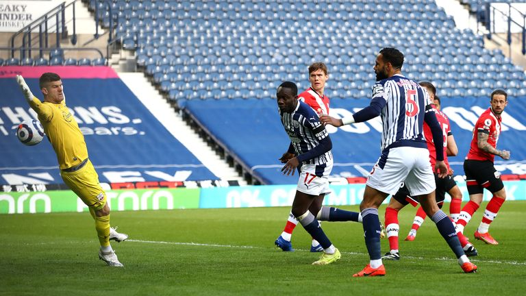 Mbaye Diagne thought he had given West Brom the lead against Southampton, only for his opener to be contentiously ruled out by VAR