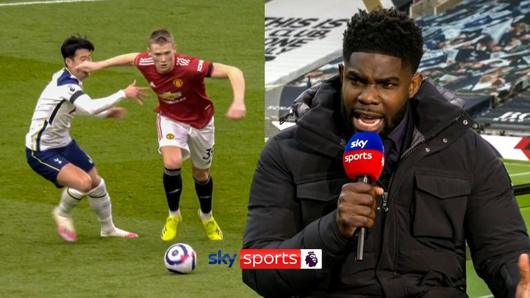 Micah Richards on Manchester United's disallowed goal due to Scott McTominay's foul on Heung-Min Son.