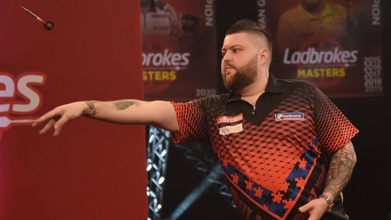 Michael Smith is still chasing a maiden major televised title but has slipped to seventh in the world rankings (Image: Lawrence Lustig/PDC)