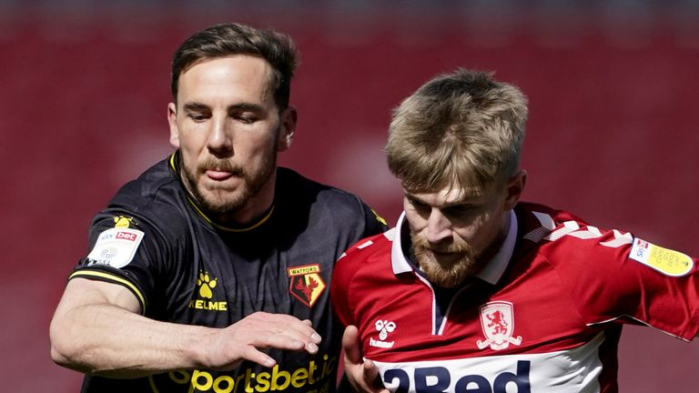 Middlesbrough and Watford shared the points in a 1-1 draw at the Riverside