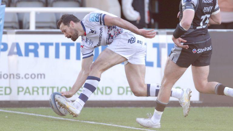 Luke Morahan scored Bristol's third try on the stroke of half-time