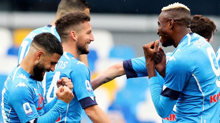 Napoli were 4-3 winners against Crotone, but made to work for their victory