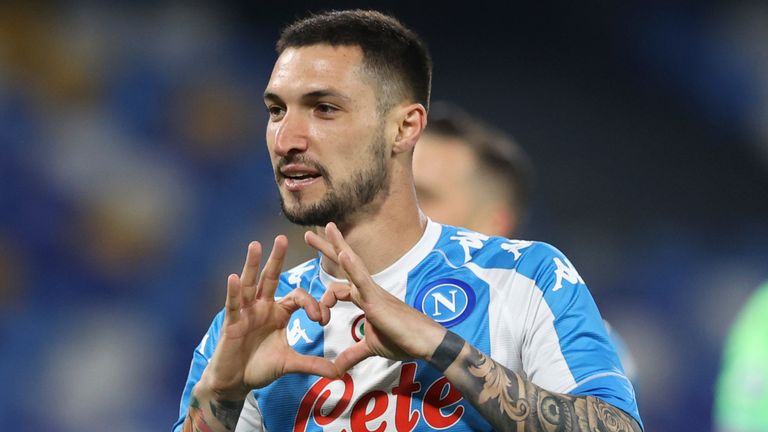 Matteo Politano scored for Napoli in the first half