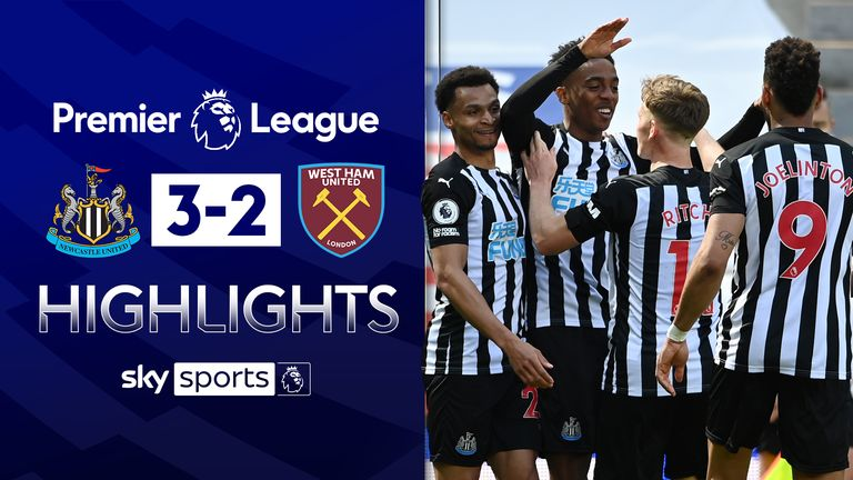 NEWCASTLE UNITED 3-2 WEST HAM UNITED