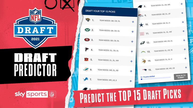 Sign up to play the NFL Draft predictor by clicking the link below