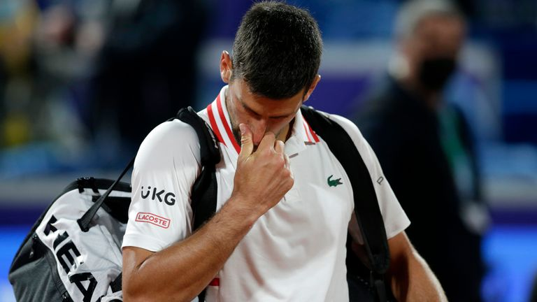 Novak Djokovic suffered an epic defeat to Aslan Karatsev in Belgrade