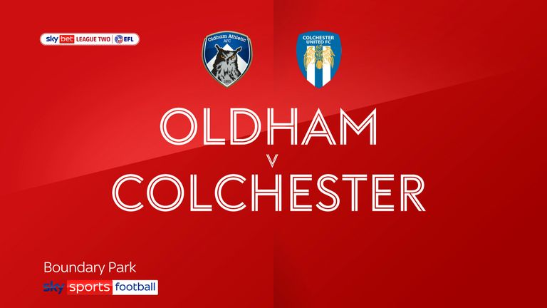 Oldham 5-2 Colchester