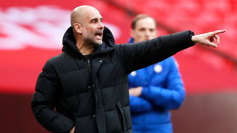 Pep Guardiola has defended his decision to make eight changes