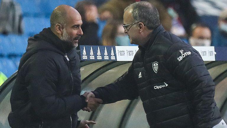 Pep Guardiola and Marcelo Bielsa (GETTY)