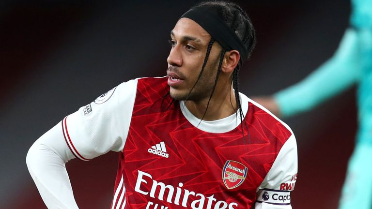 Pierre-Emerick Aubameyang has not scored in any of his last five games for Arsenal, and only nine times in the Premier League all season