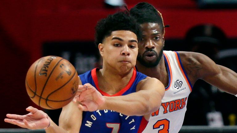 NBA: Pistons Knicks