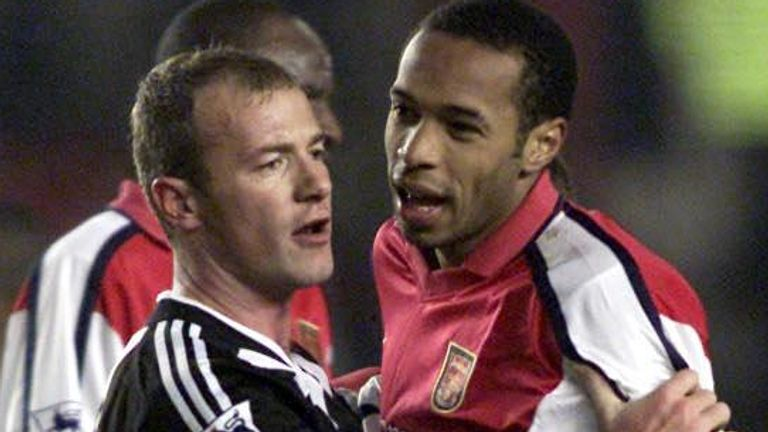 Alan Shearer (L) and Thierry Henry (R) are two of the Premier League's highest-scoring players