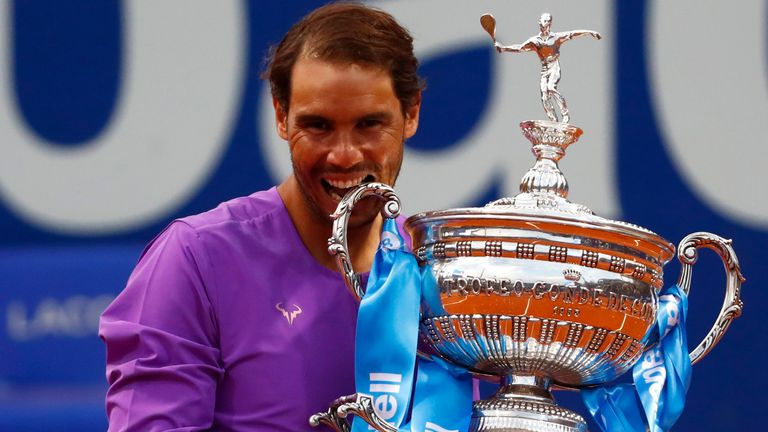 Rafael Nadal won a record-extending 12th Barcelona Open title on Sunday