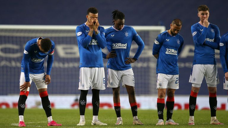 Rangers lost 4-2 on penalties at Ibrox