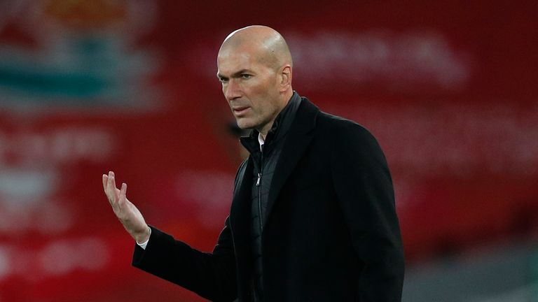 Real Madrid boss Zinedine Zidane remains relaxed over any potential ban from UEFA competitions