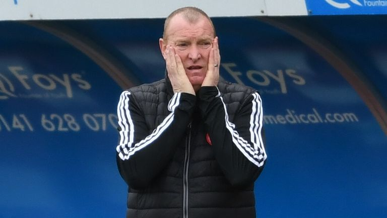Hamilton head coach Brian Rice criticised match officials following the club's Scottish Cup exit on April 3