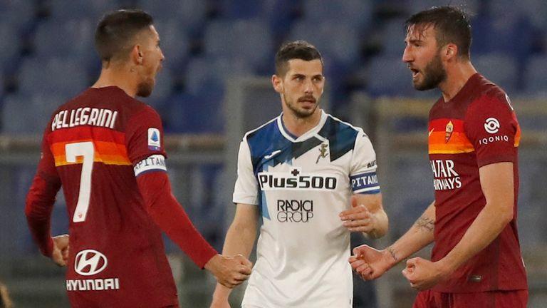 Roma held Atalanta to a 1-1 draw at the Stadio Olimpico