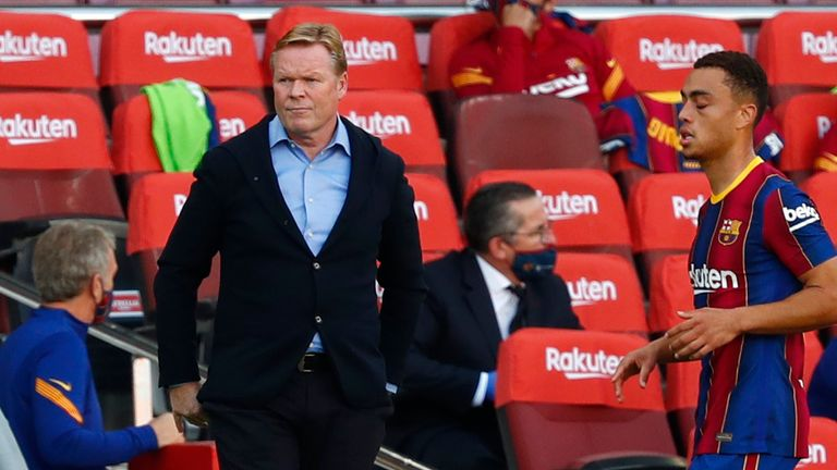 The pressure is on Ronald Koeman to get a result at the Bernabeu
