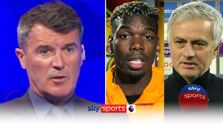 Roy Keane reacts to Paul Pogba's interview on Jose Mourinho