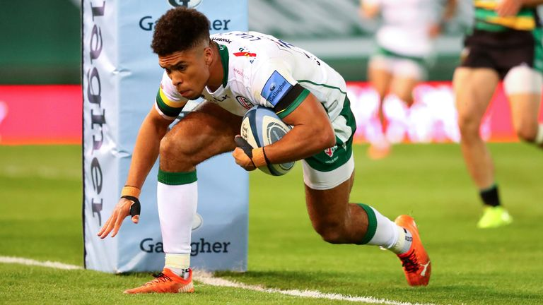 London Irish claimed a bonus point thanks to Ben Loader's late try