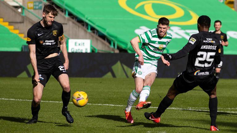 Ryan Christie curls in Celtic's sixth against Livingston