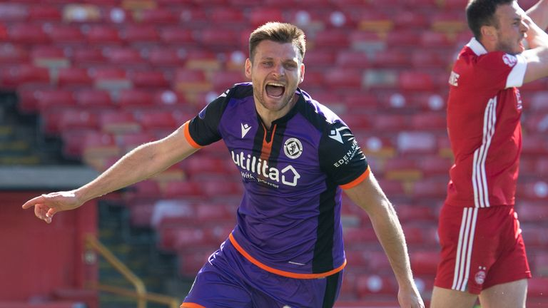 Ryan Edwards extended Dundee United's lead at Pittodrie