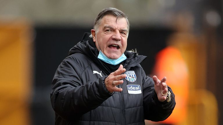 Sam Allardyce's West Brom side are 10 points from safety in the Premier League