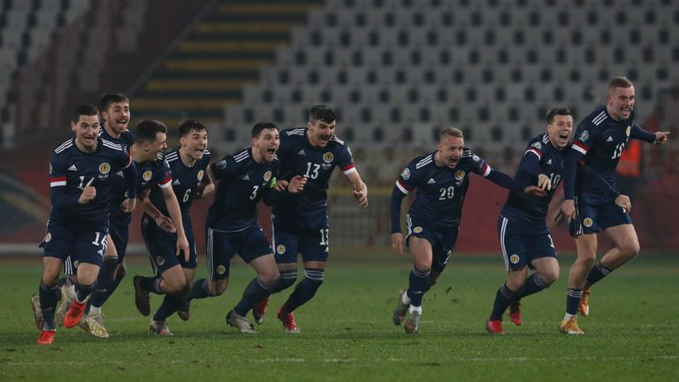 AP - Scotland qualified for their first major tournament since 1998 with victory over Serbia