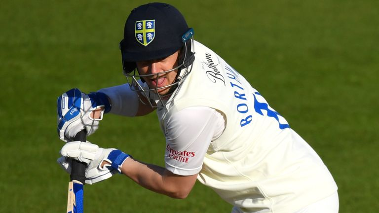 Durham captain Scott Borthwick struck 15 fours in his 129-ball innings