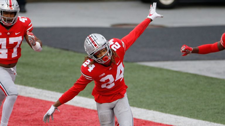 Ohio State defensive back Shaun Wade celebrates a play against Indiana during the 2020 season. (AP Photo/Jay LaPrete)