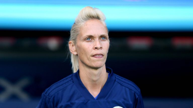 PA - Shelley Kerr pictured during her time as head coach of Scotland Women