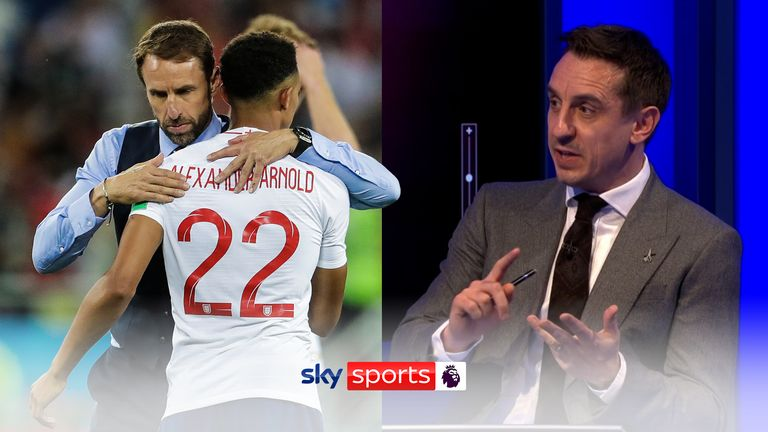 Gary Neville discusses Gareth Southgate's decision to leave Trent Alexander-Arnold out of the recent England squad.