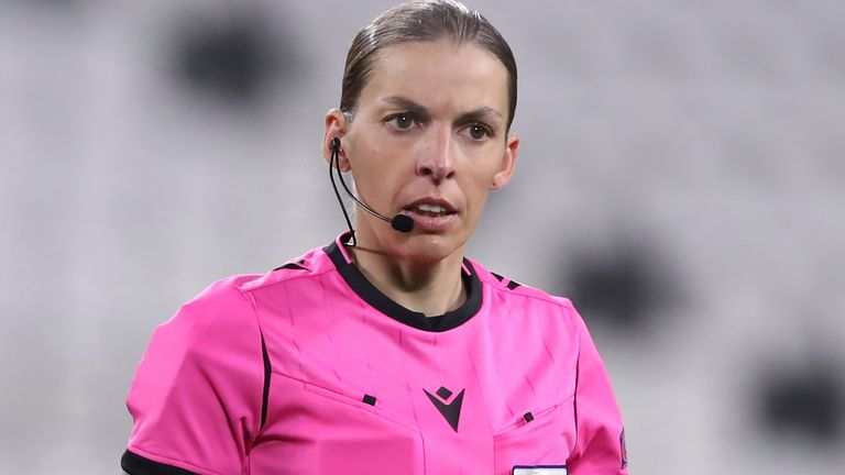 Stephanie Frappart will officiate at this summer's European Championships