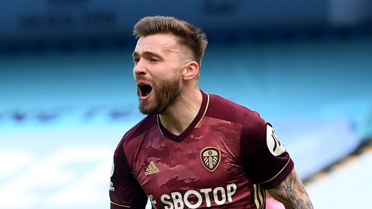 Stuart Dallas scored both Leeds' goals in the 2-1 win at Manchester City at the weekend