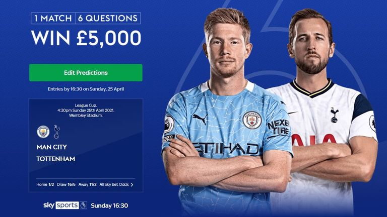 Predict the outcome of six Carabao Cup final questions and win £5,000 with Super 6 Extra