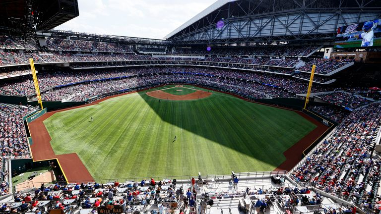 Texas Rangers host first North American sporting event without attendance  restrictions since start of COVID-19 pandemic | Baseball News | Sky Sports